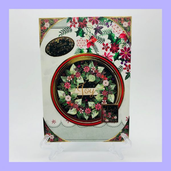 Festive Greetings Joy Noel handcrafted Christmas Card