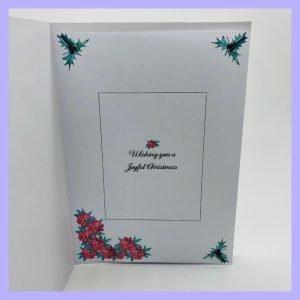 Festive Greetings Joy Noel handcrafted Christmas Card Insert