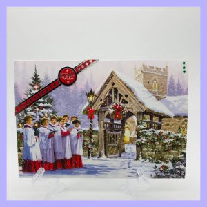 Festive Wishes Christmas Blessings handcrafted Christmas Card