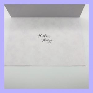 Festive Wishes Christmas Blessings handcrafted Christmas Card Insert