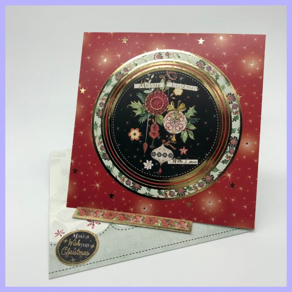 Merry Christmas with love handcrafted Christmas Card