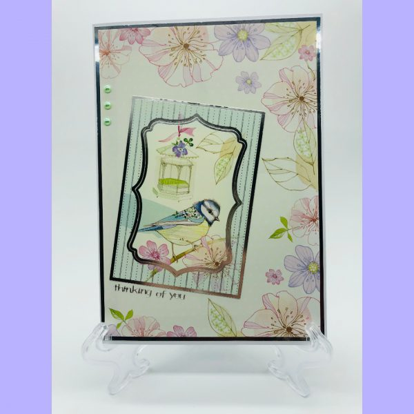 Thinking of You Bird handcrafted greeting card