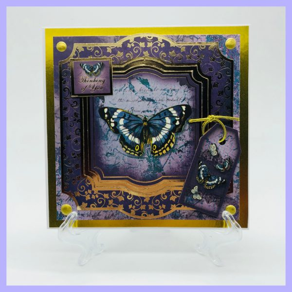 Thinking of You Butterfly handcrafted greetings card