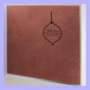 Warmest Wishes handcrafted Christmas Card Insert