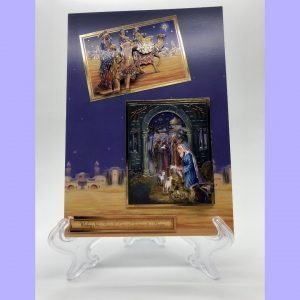 Wishing you Peace & Love at Christmas & Always handcrafted greetings card