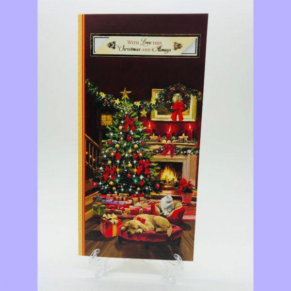 With Love this Christmas traditional Christmas Card