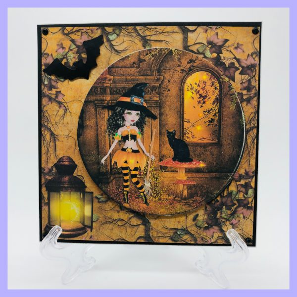 Halloween themed handcrafted greeting card