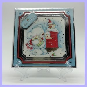 HCC5 Merry Christmas Post handcrafted Christmas Card