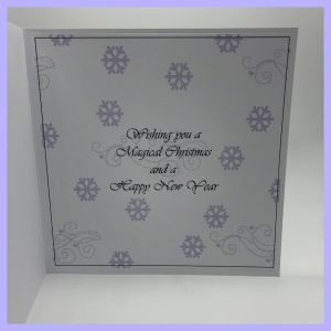 The inside of the Christmas Card